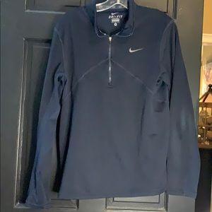 Nike men's navy zip up athletic running  shirt m +
